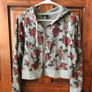 Torrid cropped floral sweatshirt